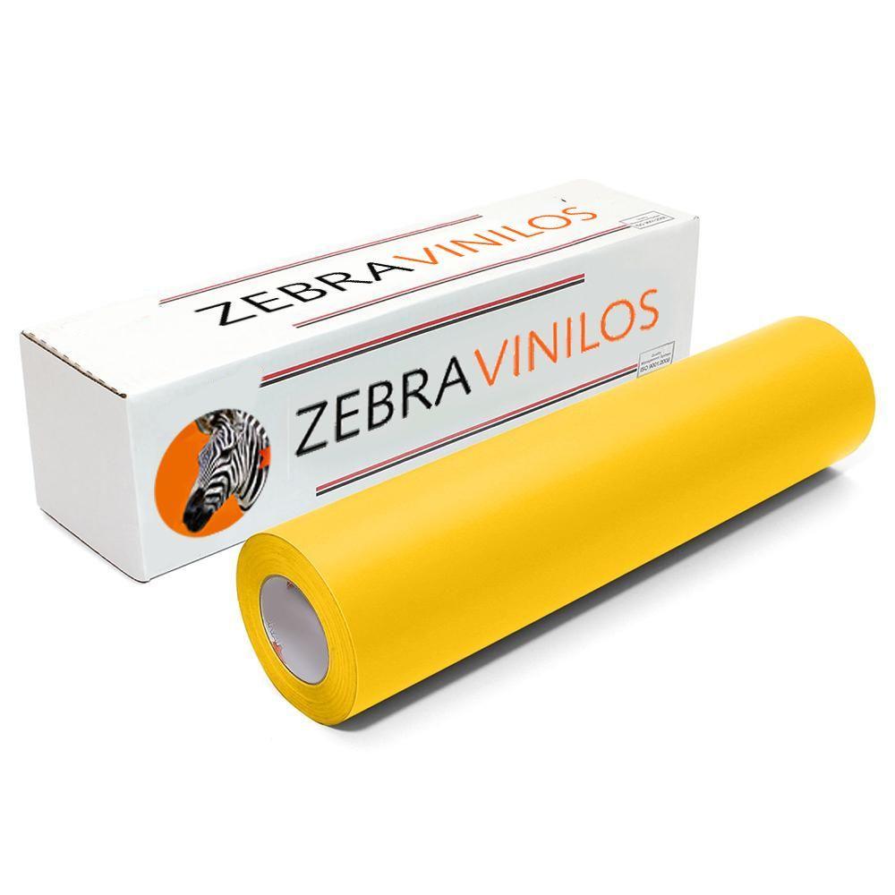 Vinilo Liso Amarillo Mate por Metros